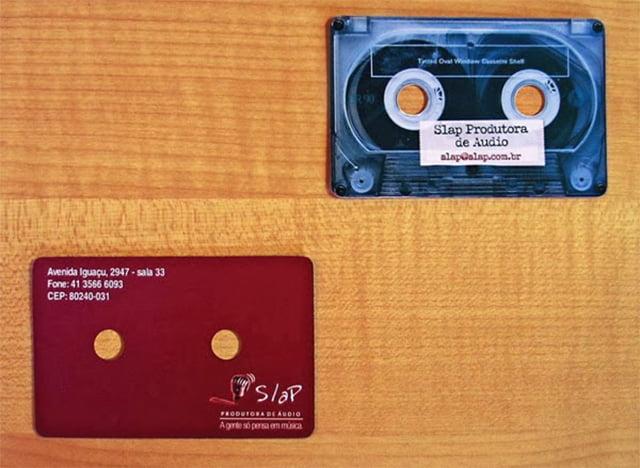 Cartão fita cassete
