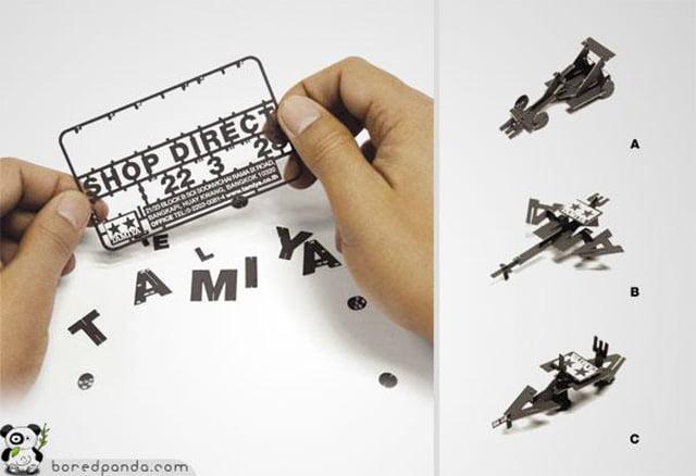 Cartão Kit de Modelos