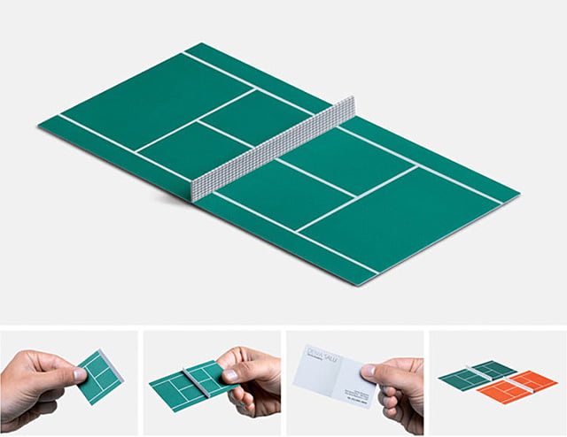 Cartão Academia de Tênis