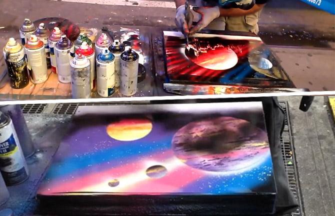 Arte com Spray de Tinta