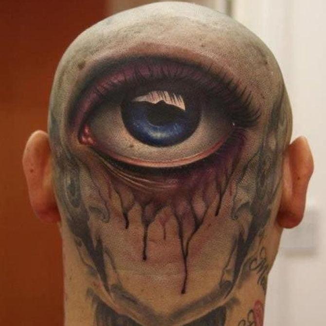 Tattoo 3D Olho na Cabeça