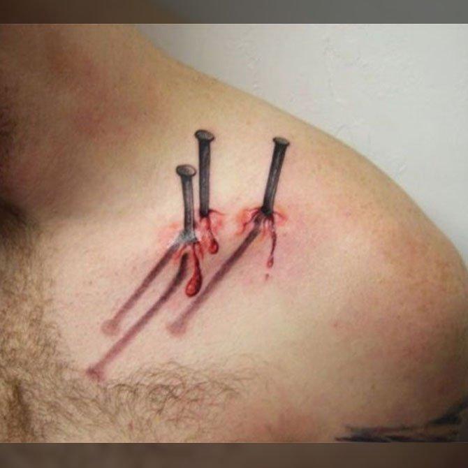 Tattoo 3D Pregos