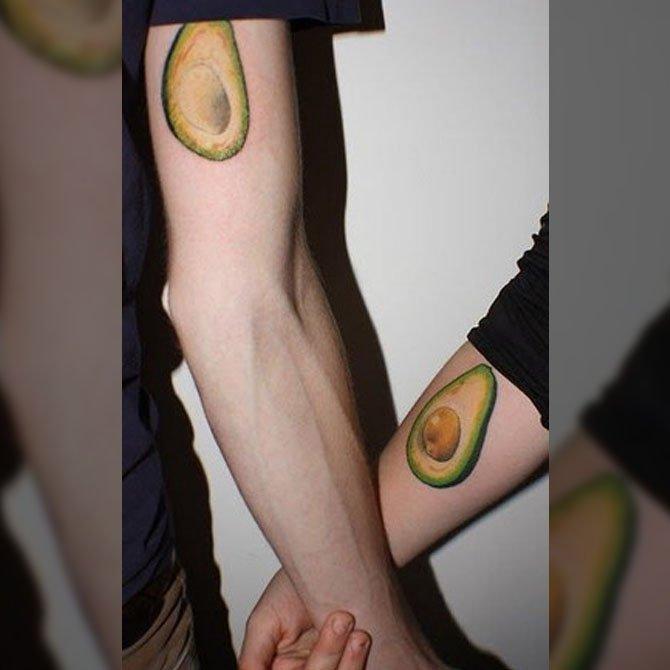 Tattoo para Casal de Abacate