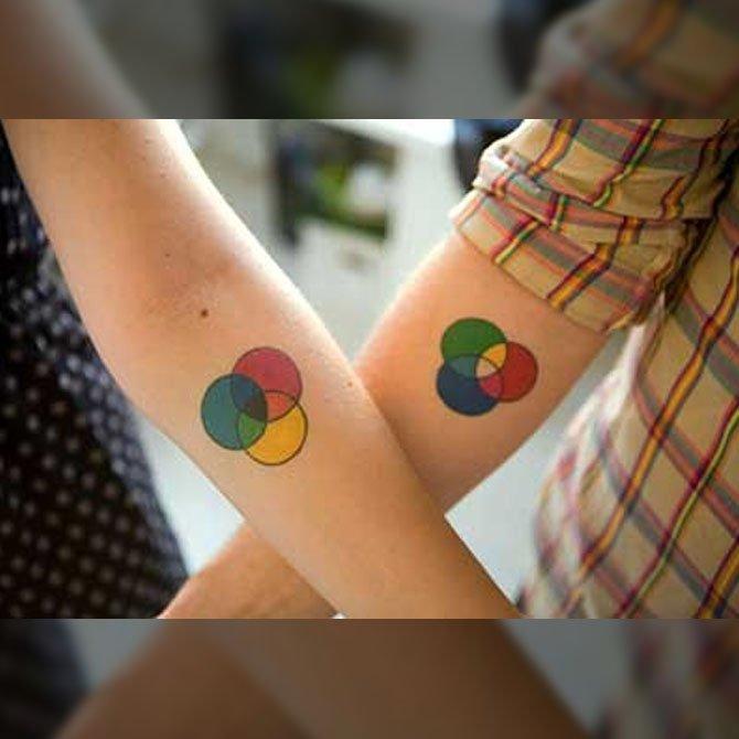 Tattoo para Casal de Designers