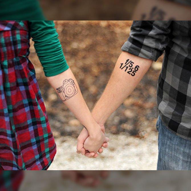 Tattoo para Casal Fotógrafos