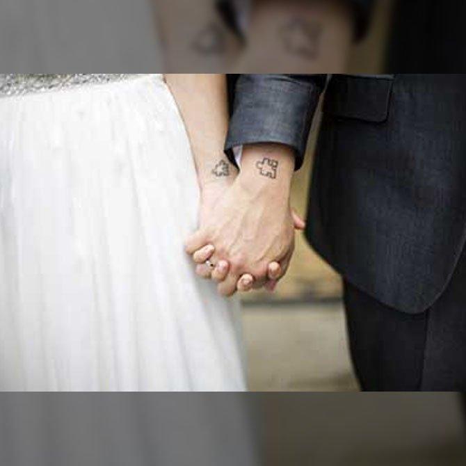Tattoo para Casal nas Mãos