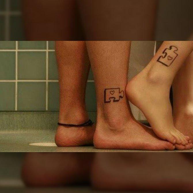 Tattoo para Casal de Quebra Cabeças