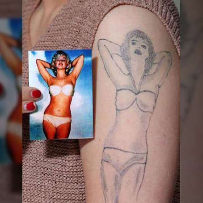 Tattoo Fail Marilyn Monroe