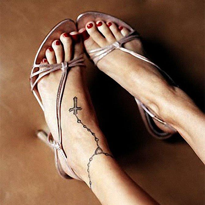 Tattoo Feminina Terço