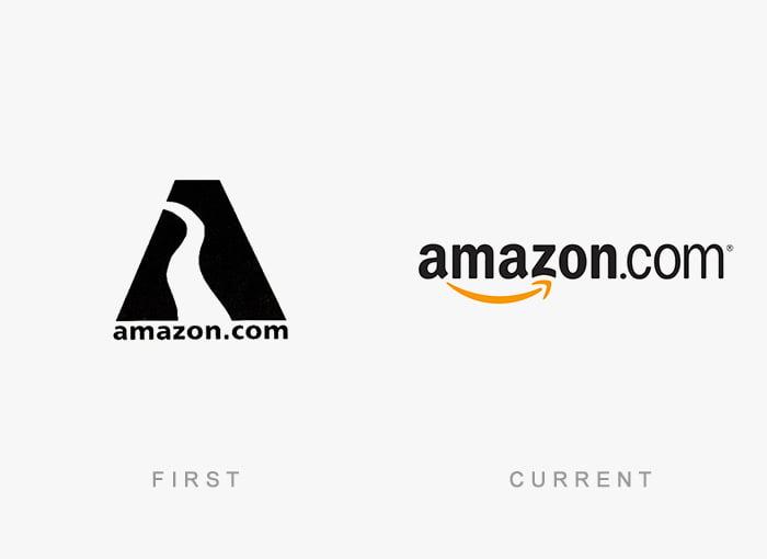 Logotipo antigo e novo Amazon