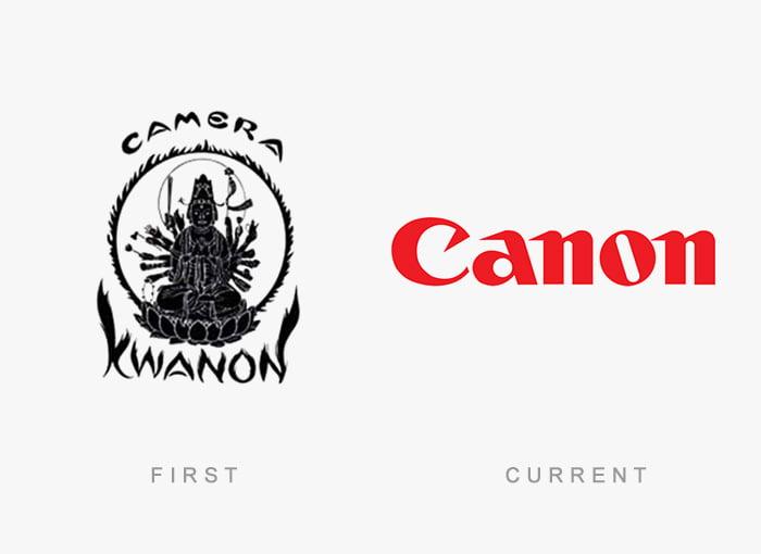 Logotipo antigo e novo Canon