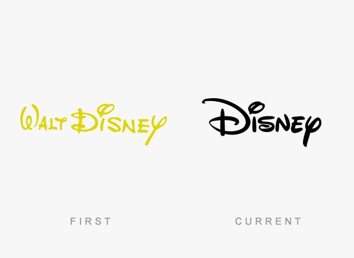 Logotipo antigo e novo Disney