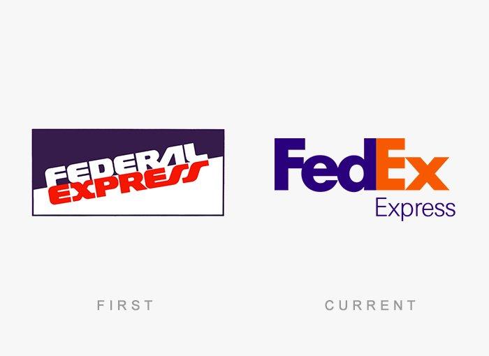 Logotipo antigo e novo Fedex