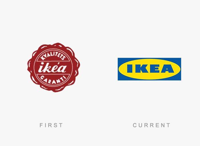 Logotipo antigo e novo Ikea