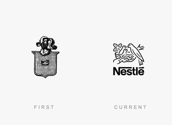 Logotipo antigo e novo Nestle