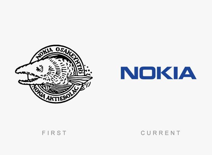 Logotipo antigo e novo Nokia