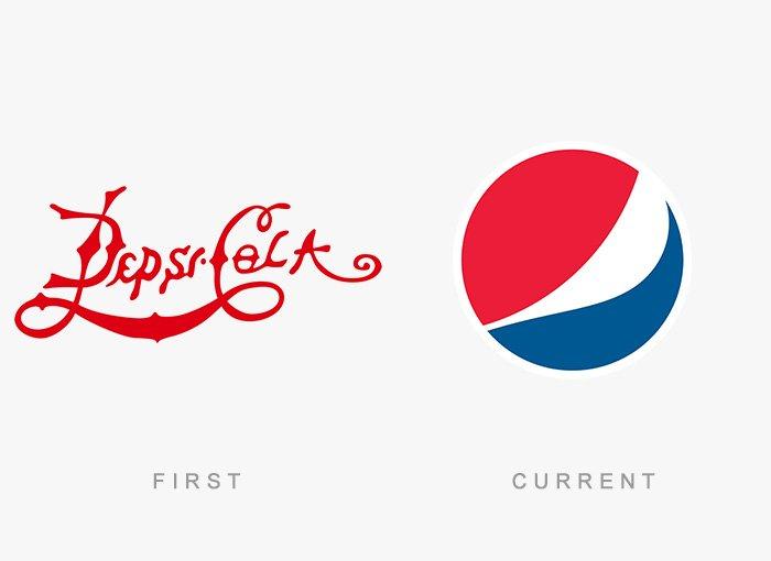 Logotipo antigo e novo Pepsi