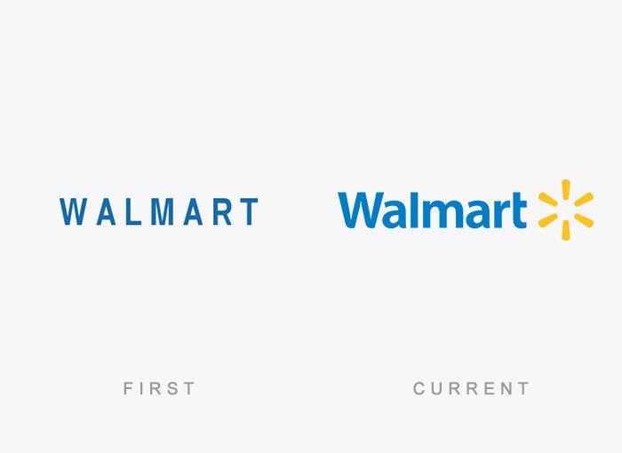 Logotipo antigo e novo Walmart