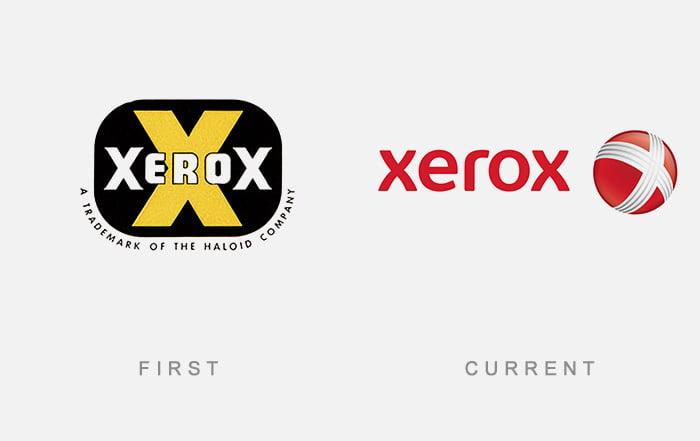 Logotipo antigo e novo Xerox