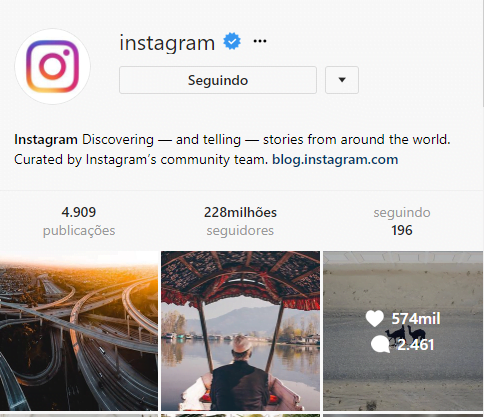 perfis mais seguidos do Instagram