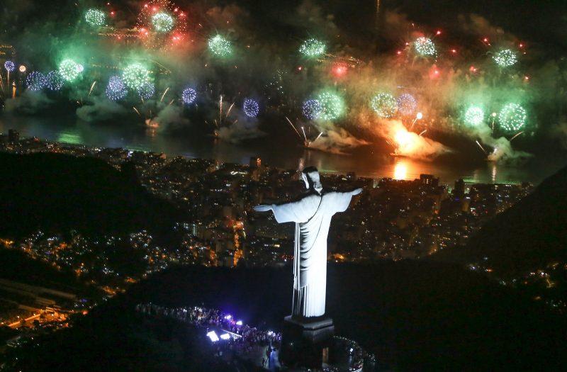 Réveillon 2018 no Rio de Janeiro (Cristo Redentor)
