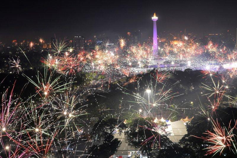 Réveillon 2018 em Jacarta, na Indonésia