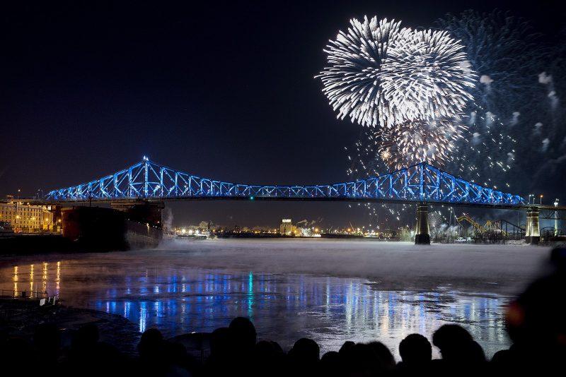 Réveillon 2018 em Montreal, no Canadá