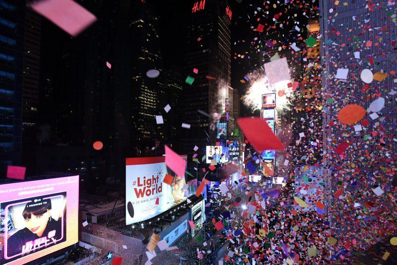 Réveillon 2018 na Times Square, em Nova York (EUA)