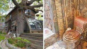 Ela passou 35 anos decorando a casa com pedras e cola, e resultado é bem interessante