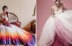 18 Noivas que deixaram seus casamentos mais coloridos aderindo ao Dip Dye