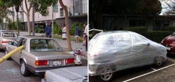 Mais 11 fotos de satisfatórias vinganças contra motoristas que estacionam feito idiotas