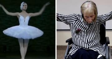Mulher com Alzheimer relembra movimentos de quando era bailarina ao ouvir música